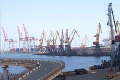Porto marítimo em Odessa, Ucrânia Imagens de Stock
