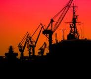 Porto marítimo industrial Fotos de Stock Royalty Free