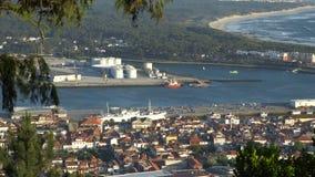 Porto marítimo industrial em Portugal vídeos de arquivo