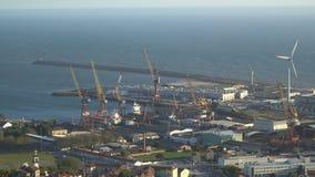 Porto marítimo industrial grande em Portugal vídeos de arquivo