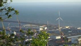 Porto marítimo industrial grande em Portugal filme