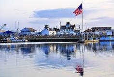 Porto marítimo Washington State dos cinzas de Westport da bandeira do museu foto de stock royalty free