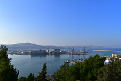 Porto marche Itália de Ancona da paisagem Imagens de Stock Royalty Free