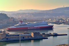 Porto marche Itália de Ancona da paisagem Fotografia de Stock