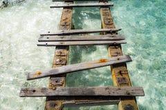 Porto Mari Beach - alter Pier Lizenzfreies Stockbild