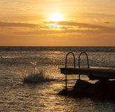 Porto Marie Sunset Stock Images