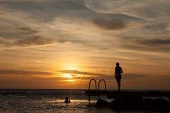 Porto Marie Sunset - people Royalty Free Stock Image