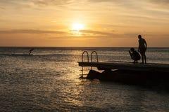 Porto Marie Sunset - people Royalty Free Stock Photo