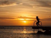 Porto Marie Sunset - people Stock Photos