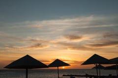 Porto Marie Sunset - umbrella Royalty Free Stock Photography