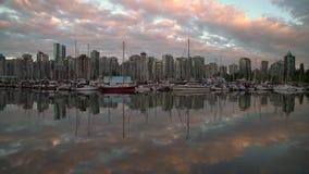 Porto Marina Dusk, Vancouver 4K UHD del carbone archivi video