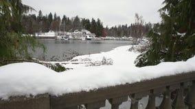 Porto Marina Snow de carvão, Vancôver 4K UHD filme