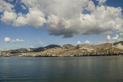 Porto marittimo Caucaso del nord di Novorossijsk Immagine Stock Libera da Diritti