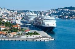 Porto marittimo (città di Ragusa, Croazia) Immagini Stock Libere da Diritti
