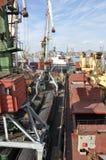 Porto marittimo commerciale di Vladivostok Fotografia Stock