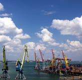 Porto marittimo del carico Fotografia Stock Libera da Diritti