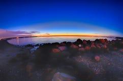 Porto marittimo del porto della baia di Greenwich a Greenwich orientale Rhode Island fotografia stock libera da diritti