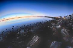 Porto marittimo del porto della baia di Greenwich a Greenwich orientale Rhode Island fotografia stock