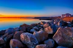 Porto marittimo del porto della baia di Greenwich a Greenwich orientale Rhode Island immagini stock