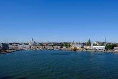 Porto marittimo della Finlandia Helsinki Fotografie Stock