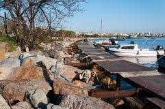 Porto marittimo della piccola barca Immagine Stock Libera da Diritti