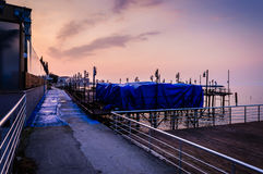 Porto marittimo desolato Fotografia Stock