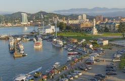Porto marittimo di Batumi, Georgia fotografia stock libera da diritti