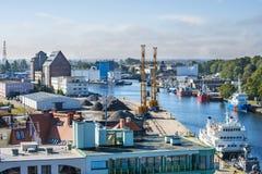Porto marittimo di Kolobrzeg, Polonia Fotografia Stock Libera da Diritti