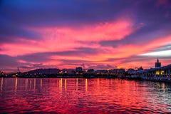 Porto marittimo di laga del ¡ di MÃ Fotografie Stock