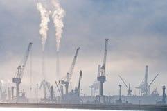 Porto marittimo di mattina. Immagini Stock Libere da Diritti