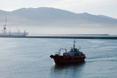 Porto marittimo di mattina. Fotografia Stock Libera da Diritti