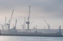Porto marittimo di mattina. Fotografia Stock