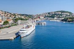 Porto marittimo di Ragusa in Croazia Immagine Stock