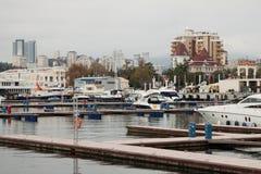 Porto marittimo di Sochi Immagini Stock
