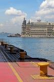 Porto marittimo e stazione ferroviaria di Haydarpasa Fotografia Stock Libera da Diritti