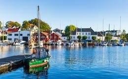Porto marittimo locale in Norvegia Fotografia Stock Libera da Diritti