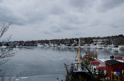Porto marittimo mistico, Connecticut, U.S.A. Fotografia Stock Libera da Diritti