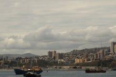 Porto marittimo Sudamerica della città fotografie stock libere da diritti