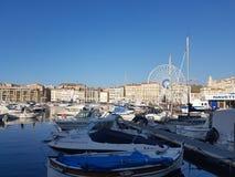Porto Marsiglia di Vieux, a sud della Francia Fotografia Stock