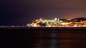 Porto Maurizio em Noite, Italy imagem de stock