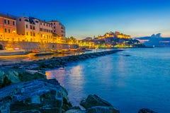 Porto Maurizio na província dos impérios, Liguria, Itália imagens de stock