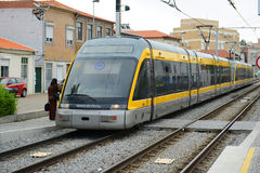 Porto Metro on the ground, Portugal Royalty Free Stock Image