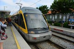 Porto Metro on the ground, Portugal Royalty Free Stock Photos
