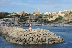 Porto Mgarr imagem de stock royalty free