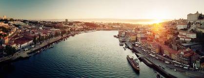 Porto miasta panorama zdjęcia stock