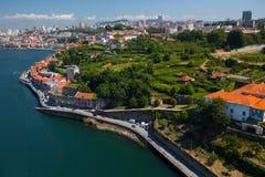 Porto miasta widok z lotu ptaka obrazy stock