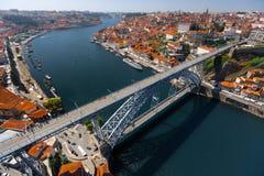 Porto miasta widok z lotu ptaka fotografia stock