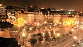 Porto miasto nocą Zdjęcie Stock