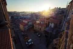 Porto miasto, zmierzch obrazy stock