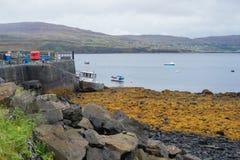 Porto a Milovaig più basso, isola di Skye Fotografia Stock Libera da Diritti